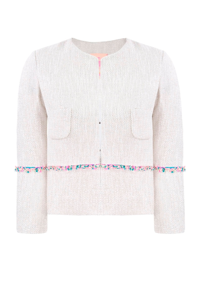 Vilagallo jacket with silver metallic thread and fluoro detailing £169