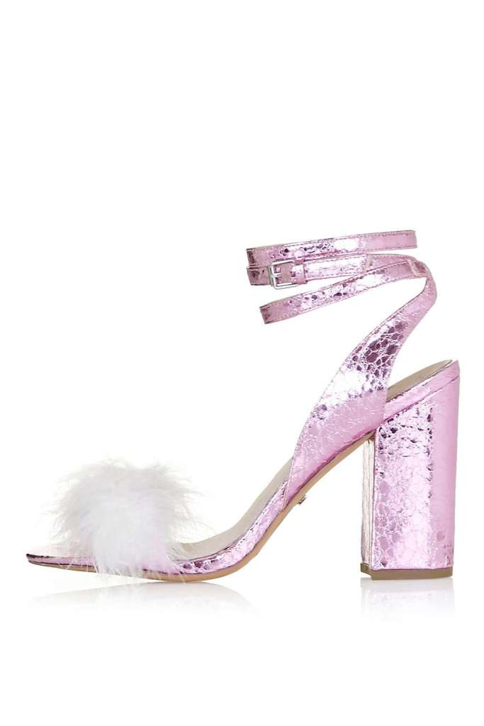 So much love for these Topshop metallic and feather sandals £49