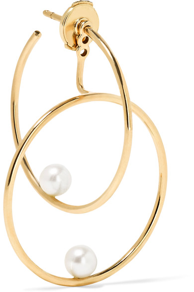 Anissa Kermiche Gold and Pearl Earrings £780