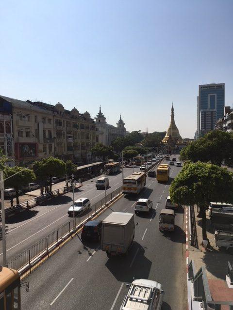 Downtown Yangon skyline